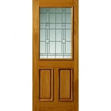 JB Kind Oak Burgundy External Oak Door