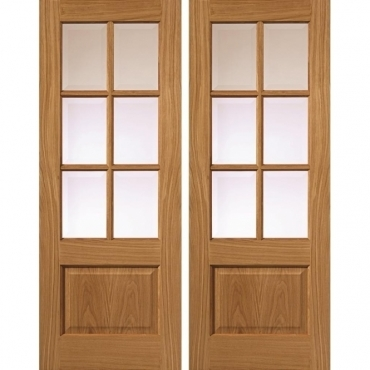 JB Kind Oak Classic Dove Pair Oak Door Set
