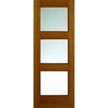 JB Kind Oak Classic Royale R03 Oak Glazed Door