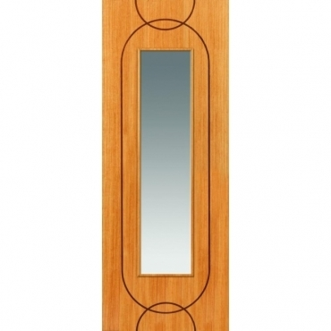 JB Kind Oak Contemporary Agua Oak Glazed Door