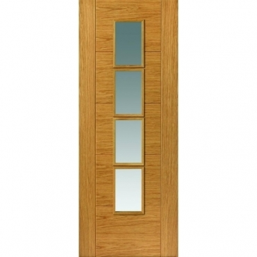 JB Kind Oak Contemporary Bela Oak Glazed Door