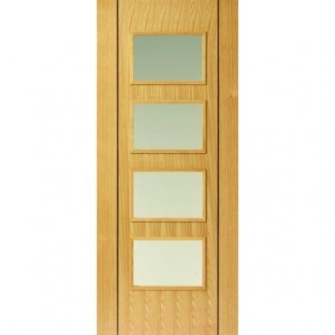 JB Kind Oak Contemporary Blenheim Oak Door