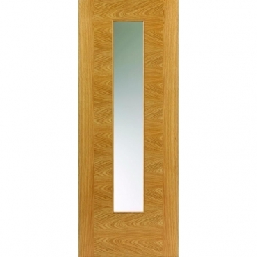 JB Kind Oak Contemporary Ostria Oak Glazed Door