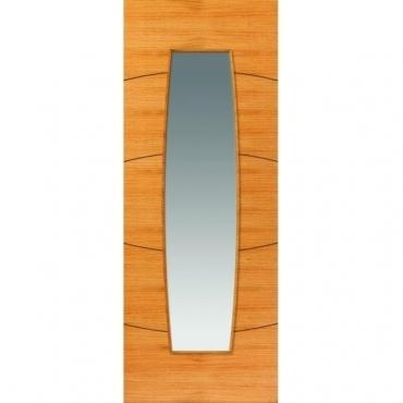 JB Kind Oak Contemporary Sol Oak Glazed Door