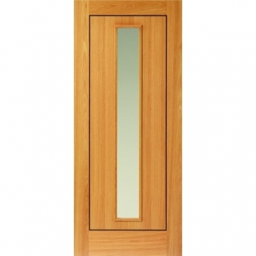 JB Kind Oak Contemporary Spencer Oak Glazed Door