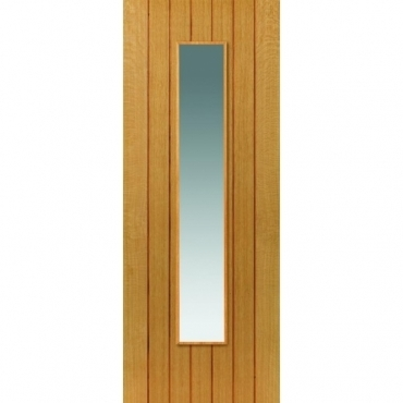 JB Kind Oak Cottage Cherwell Oak Glazed Door
