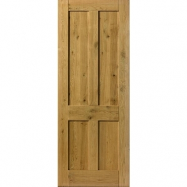 JB Kind Oak Cottage Rustic 4 Panel Door