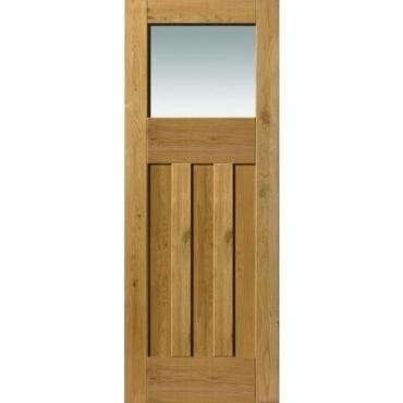 JB Kind Oak Cottage Rustic DX Glazed Door