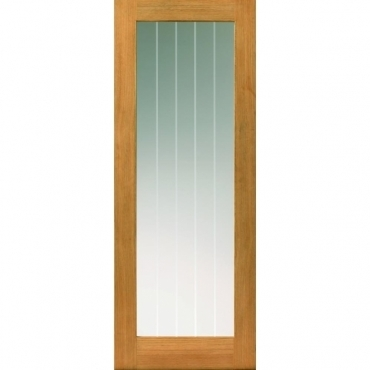 JB Kind Oak Cottage Thames I Light Oak Glazed Door