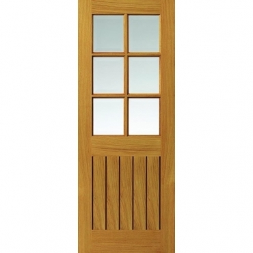 JB Kind Oak Cottage Tutbury Oak Glazed Door