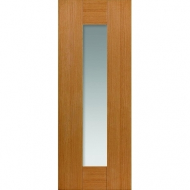 JB Kind Oak Shaker Axis Oak Glazed Door