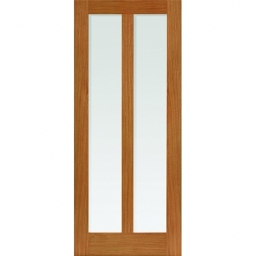 JB Kind Oak Shaker Matterhorn Oak Glazed Door