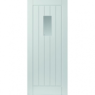 JB Kind Thames Glazed Extreme External White Door