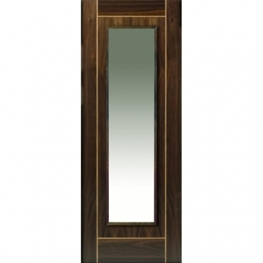 JB Kind Walnut Valcor Glazed Walnut Door