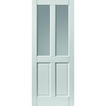 JB Kind White Colonial 4 Panel Extreme Glazed External Door