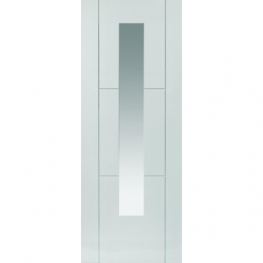 JB Kind White Contemporary Mistral Glazed Primed Door