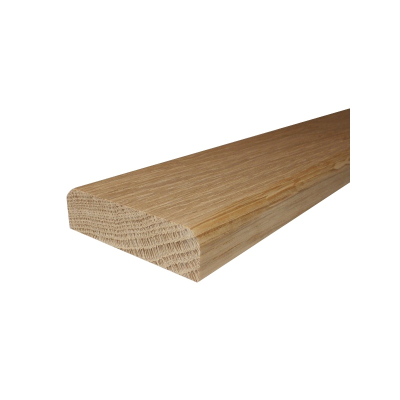 Solid oak flat door threshold 130mm wide from for Floating floor meets exterior door threshold
