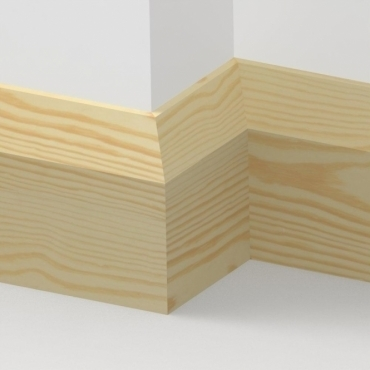 Pine Bevel Skirting 3.5 metre