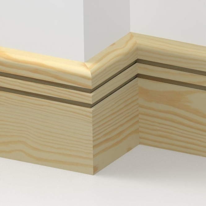 Pine Bullnose Double Edge Skirting 3.5 metre