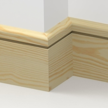 Pine Bullnose Single Edge Skirting 3.5 metre