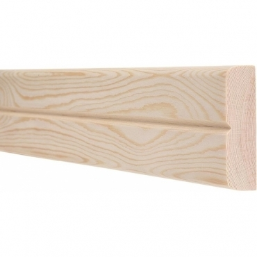 Pine Bullnose Single Groove Dado Rail 3 Metre