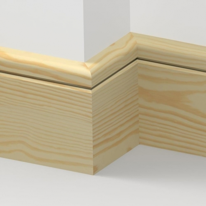 Pine Bullnose Single Groove Skirting 3.5 metre