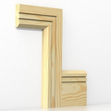 Pine Chamfered Double Edge Architrave Sets
