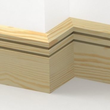 Pine Chamfered Double Edge Skirting 3.5 metre