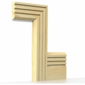 Pine Chamfered Triple Edge Architrave Sets