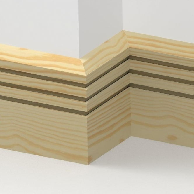 Pine Chamfered Triple Edge Skirting 3.5 metre