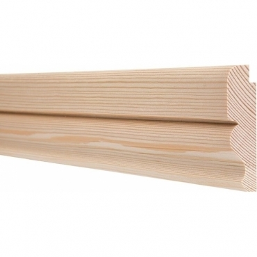 Pine Ogee Picture Rail 3 Metre