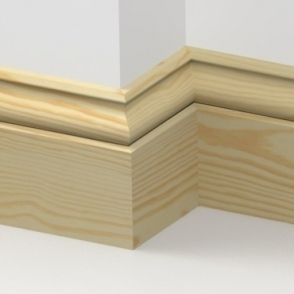 Pine Ogee Skirting 3.5 metre