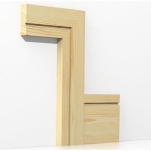 Pine Square Single Edge Architrave Sets