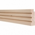 Pine Square Triple Edge Picture Rail 3 Metre