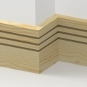 Pine Square Triple Edge Skirting 3.5 metre