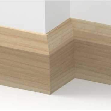Solid Ash Bevel Skirting 3 metre