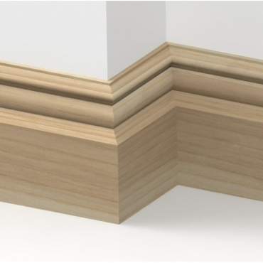 Solid Ash Bromley Skirting 3 metre