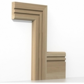 Solid Ash Bullnose Double Edge Architrave Sets