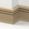 Solid Ash Bullnose Double Edge Skirting 3 metre