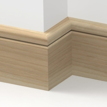 Solid Ash Bullnose Single Groove Skirting 3 metre