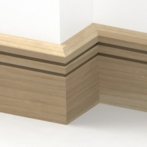Solid Ash Chamfered Double Edge Skirting 3 metre