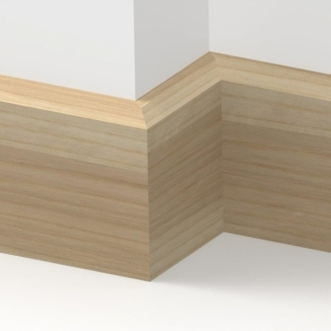 Solid Ash Chamfered Skirting 3 metre