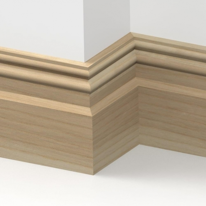 Solid Ash Henley Skirting 3 metre
