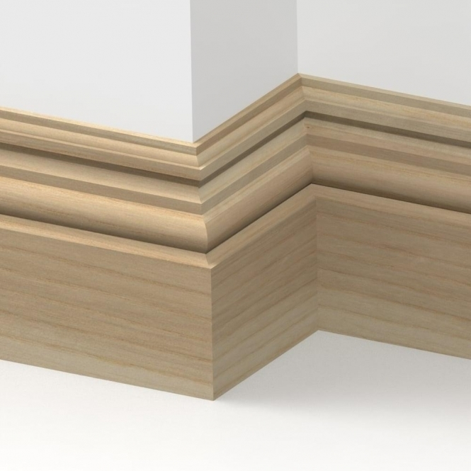 Solid Ash Heritage Skirting 3 metre