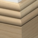 Solid Ash Hove Skirting 3 metre