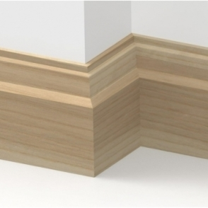 Solid Ash Lambs Tongue Skirting 3 metre