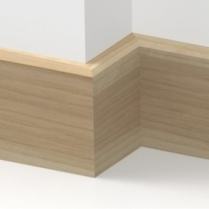 Solid Ash Mini Chamfered Skirting 3 metre