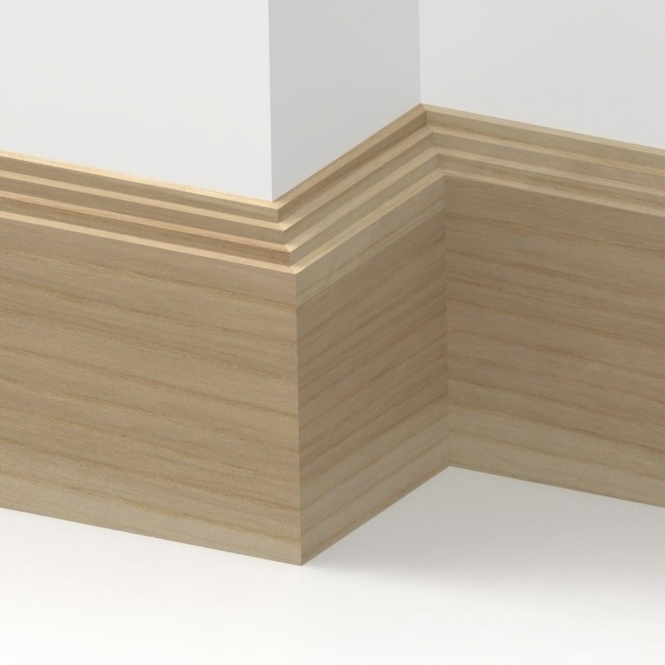 Solid Ash Mini Step Skirting 3 metre