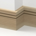 Solid Ash Square Double Edge Skirting 3 metre