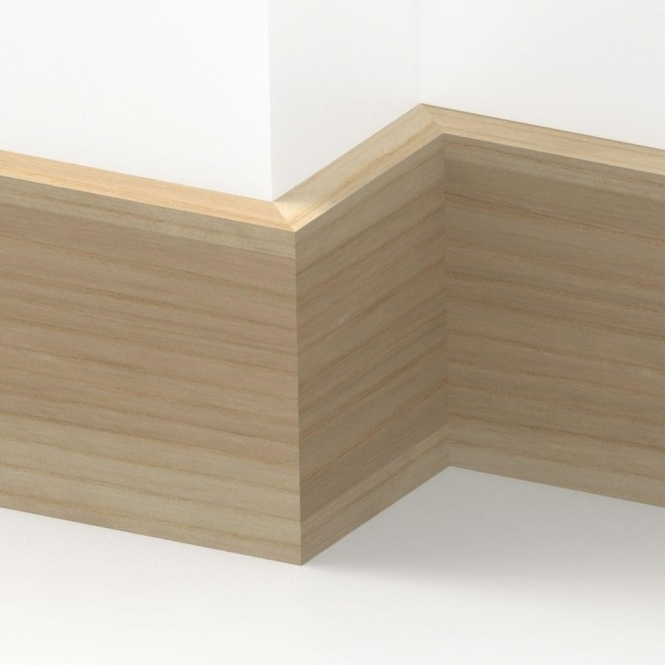 Solid Ash Square Edge Skirting 3 metre